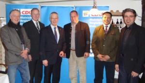 Vorstand der CDU Dabringhausen mit den Gästen Dr. Hermann-Josef Tebroke und Dr. André Benedict Prusa